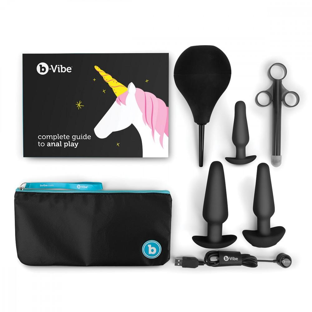 Rechargeable Anal Training and Education Butt Plug Set Image 0